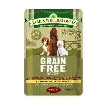 James Wellbeloved Grain Free Lamb Dog Food Pouches (Pack Of 12)
