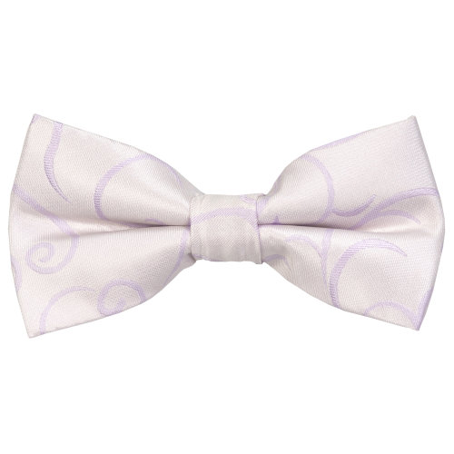 Lilac Modern Scroll Wedding Bow Tie #AB-BB1002/1