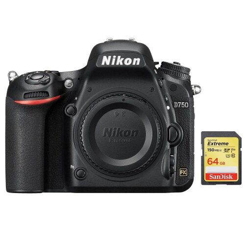 NIKON D750 Body + SanDisk Extreme 64G SD card