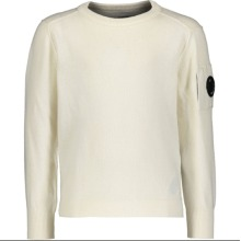 CP Company Kids Boys Fleece Logo Lens Sweatshirt Cream Age 6 Not Stone Island Shirt Top Jacket Coat Jeans Combats Hoodie Hat Jumper Polo