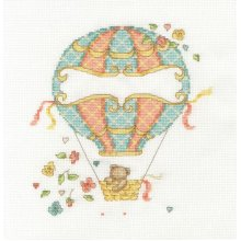 DMC Counted Cross Stitch Kit - Baby Sampler - Balloon Baby
