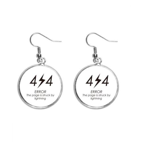 Programmer 404 Error Page Ear Dangle Silver Drop Earring Jewelry Woman