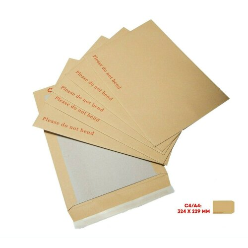 25x A4 Hard CardBoard Backed 'PLEASE DO NOT BEND' Envelopes Postage C4