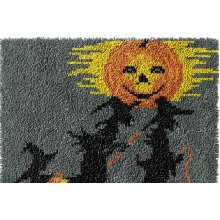 Halloween Rug Latch Hooking Kit (64x48cm blank canvas)