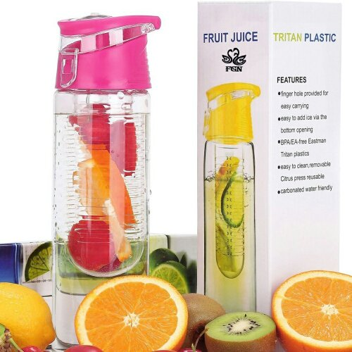 Pack of 2( 800ML Fruit Cup Infusing Infuser Water Sport Health bottle)