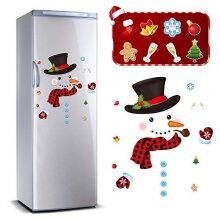 Zonon 27 Pieces Christmas Refrigerator Magnet Snowman Magnet Decoration Cute Xmas Magnet Stickers Holiday Magnet Sets for Christmas Fridge Metal Doo