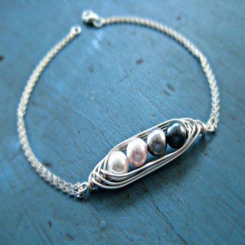 Colorful Freshwater Cultured Handmade Beaded Pearl Bracelet