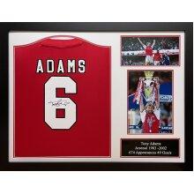 Framed Tony Adams signed Arsenal shirt with COA & proof