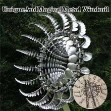 Unique And Magical Metal Windmill  Sculptures Move With The Wind Lawn Wind