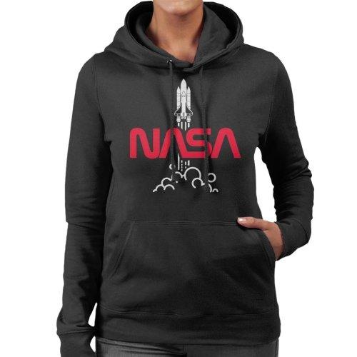 NASA Shuttle Launch Logo Women's Hooded Sweatshirt