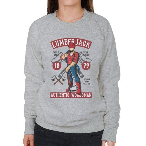 (X-Large, Heather Grey) Lumberjack Authentic Woodsman Women's Sweatshirt