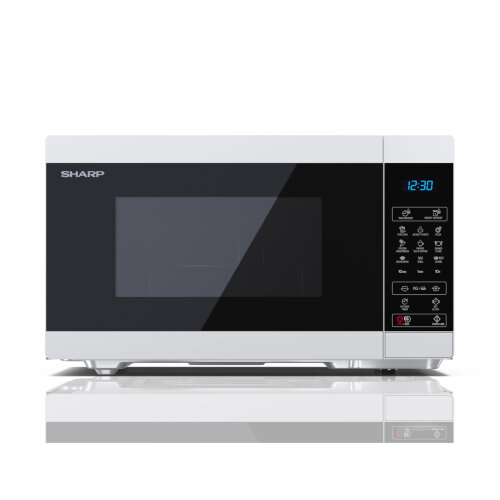 Sharp YC-MG81U-W White 28L 900W Microwave with 1100W Grill and Touch Control