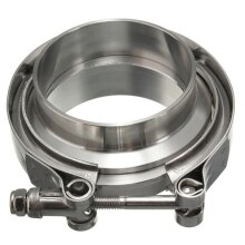 2.5Inch V-Band Clamp with Flanges Turbo Exhaust Down Pipe Universal Stainless 63mm