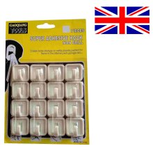 16 Self Adhesive Hooks Wall Towel Kitchen Hook No Drill Stick On Super Strong