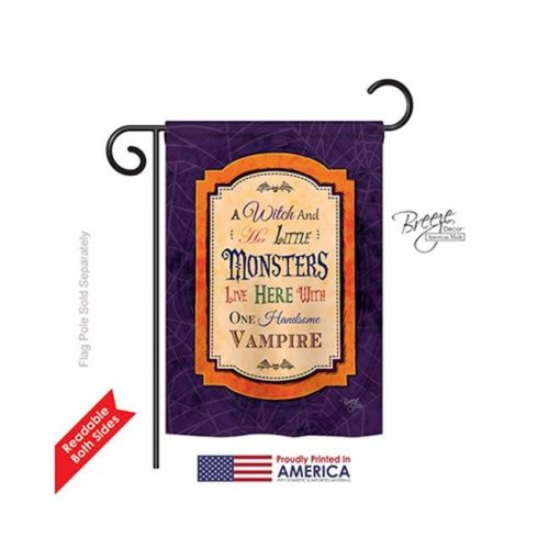 Breeze Decor 62019 Halloween Wicked & Handsome 2-Sided Impression Garden Flag - 13 x 18.5 in.