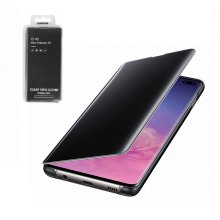 Official Genuine Samsung Galaxy S10+ Plus Clear View Case Flip Cover - Black