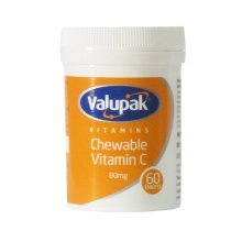 Valupak Chewable Vitamin C 80mg - 60 Tablets