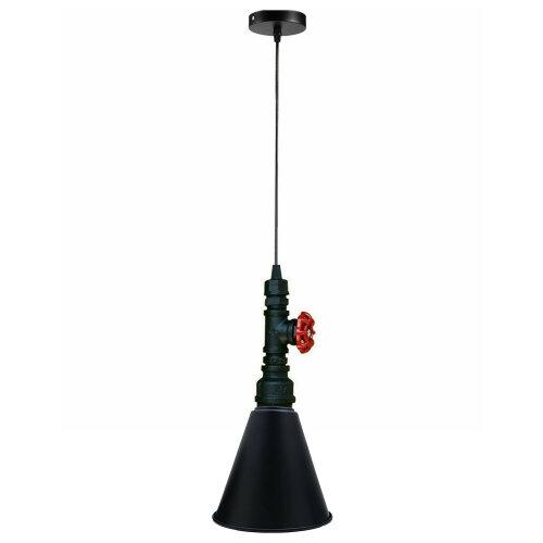 (Black) Brushed Water Pipe Vintage Pendant Ceiling Light