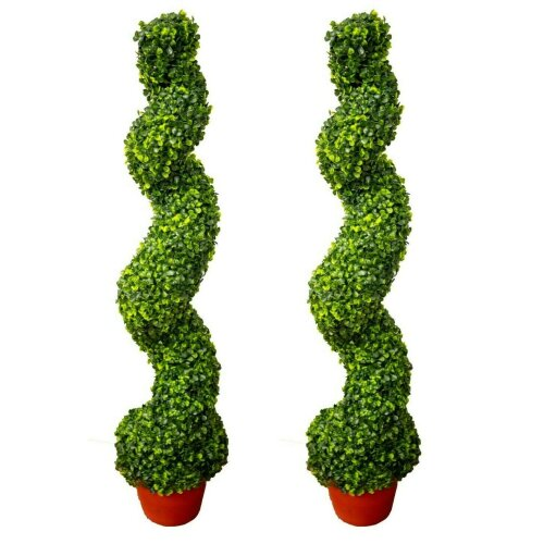 OTZ 100cm Spiral Tree Topiary Artificial outdoor Tree set