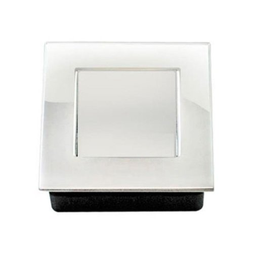 50 mm Square Flush Pull with Spring Loaded Cover, Polished US32 - 629 Stainless Steel