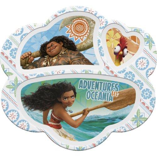 Zak Designs Moana Kids Divided Plates