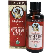Badger - After-Shave Face Oil, Bergamot & Menthol, Moisturizing Aftershave Oil, Natural After Shave Face Oil for Men, 4 fl oz Glass Bottle