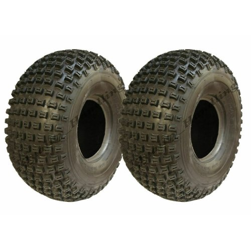 22x11.00-8 Knobby ATV tyres Quad trailer tyre tire 4 ply P322 set of 2