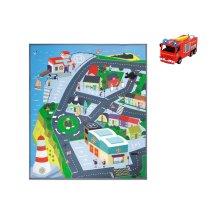 Dickie Toys 203096003 Play Mat Fireman Sam - Pontypandy with Fire Engine