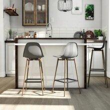 Copley Plastic Kitchen Dining Room Barstool Grey