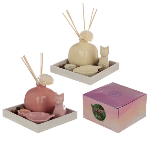 Eden Aroma Set - Llama Diffuser, Incense  and  Candle Holder