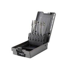 "YUFUTOL Carbide Burrs Set for Aluminum - 5 Pcs Aluma Cut 4.4"" Extended Long Reach Carbide Rotary Burr Files Set 1/4 Inch Shank Die Grinder Drill,Met"