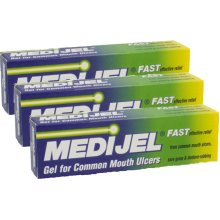 MEDIJEL GEL 15G X 3 TRIP PACK-FAST EFFECTIVE RELIEF FROM MOUTH ULCERS, SORE GUMS