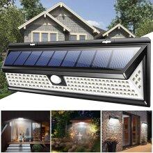 Outdoor Floodlights Lamp 118 LED Solar Power  Sensor Wall Light