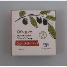 2 X Greek Olive Oil soap-Sandalwood (Pack of 2 soaps)