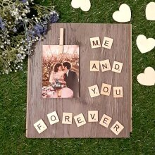 Me and You Forever Wood Photo Holder