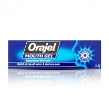 Orajel Mouth Gel Relief of ulcer denture pain 5.3g