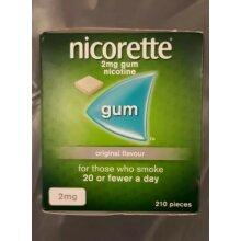 Nicorette 2mg Gum Original Flavour 210 Pieces
