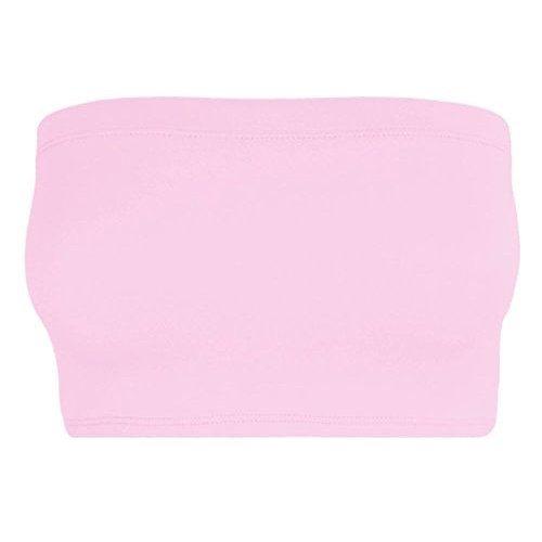 Womens Ladies Plain Strapless Boobtube Bandeau Vest Bra Crop Top Stretch Bralet Sexy Boob Tube
