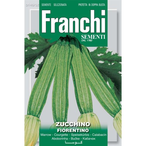 Franchi Seeds of Italy - DBO 146/52 - Courgette - Lungo Fiorentino - Seeds