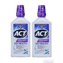 ACT Total Care Dry Mouth Anticavity Fluoride Mouthwash Soothing Mint 33.80 oz (Pack of 2)