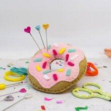 The Make Arcade Pin Cushion Kit - Sweet Doughnut
