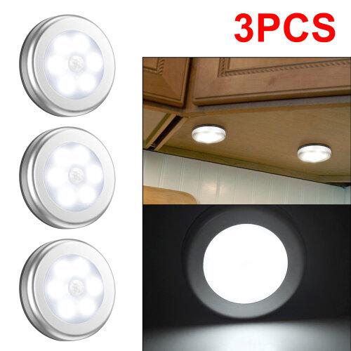 3x 6LED Motion Sensor Lights Stair Lamp PIR Wireless Night Light