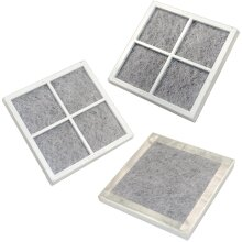 HQRP Pack of 3 Fresh Air Filters for LG Refrigerators LT120F / ADQ73214404 / ADQ73334008 / ADQ73334003 Replacement + HQRP Coaster