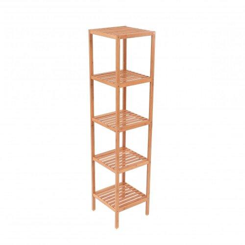 Oypla 5 Tier Wooden Bamboo Bathroom Kitchen Shelf Storage Rack Unit
