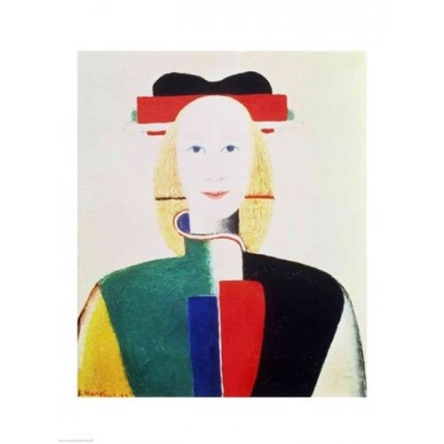 The Girl with The Hat Poster Print by Kazimir Malevich - 18 x 24 in.