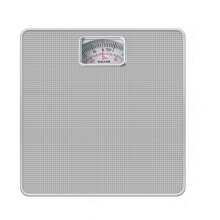 Salter Compact Mechanical Bathroom Scales - Easy to Read Analogue Dial, Fast + Reliable Weighing, 120 kg Capacity,15 Year Guarantee - Silver