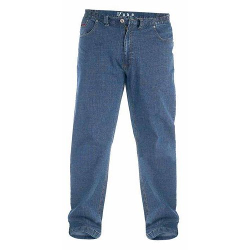 Duke London Mens Kingsize Bailey Elasticated Waist Jeans