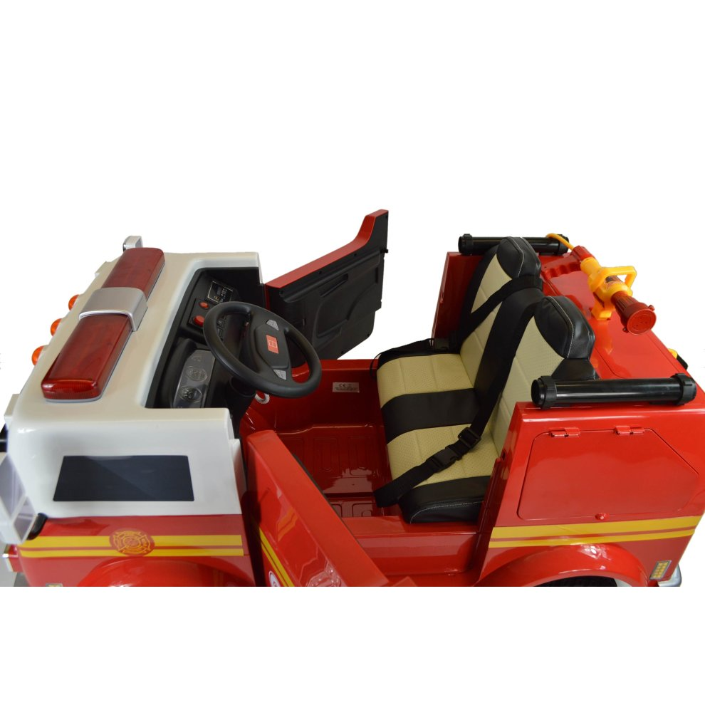 Hand Painted Electric Kids Ride On Toy Fire Engine Deluxe Version