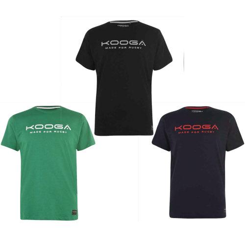 KooGa Cotton Logo T Shirt Mens Rugby Sports Fan Top
