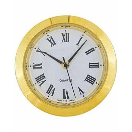 Clock Movement Quartz Mini Insertion Head 36mm Gold Roman